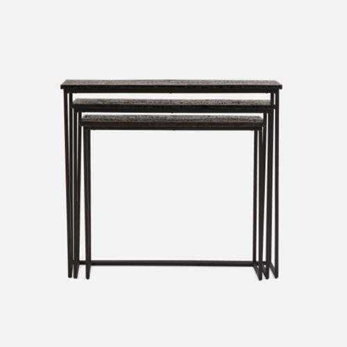tri- console tables   Quantity: 1 - *includes 3  Price: $175.00