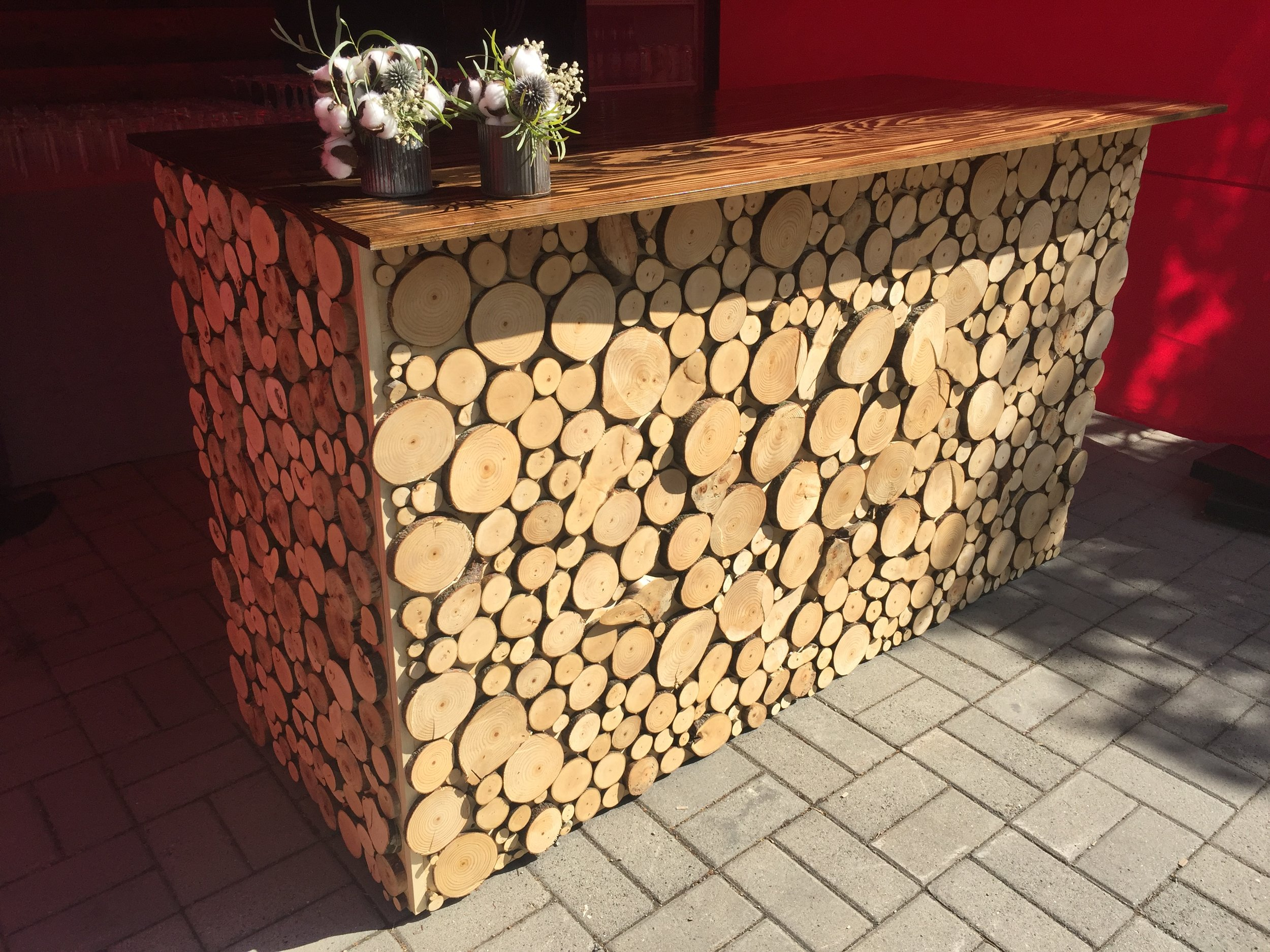 wood slab bar   Quantity: 1  Price: $275.00