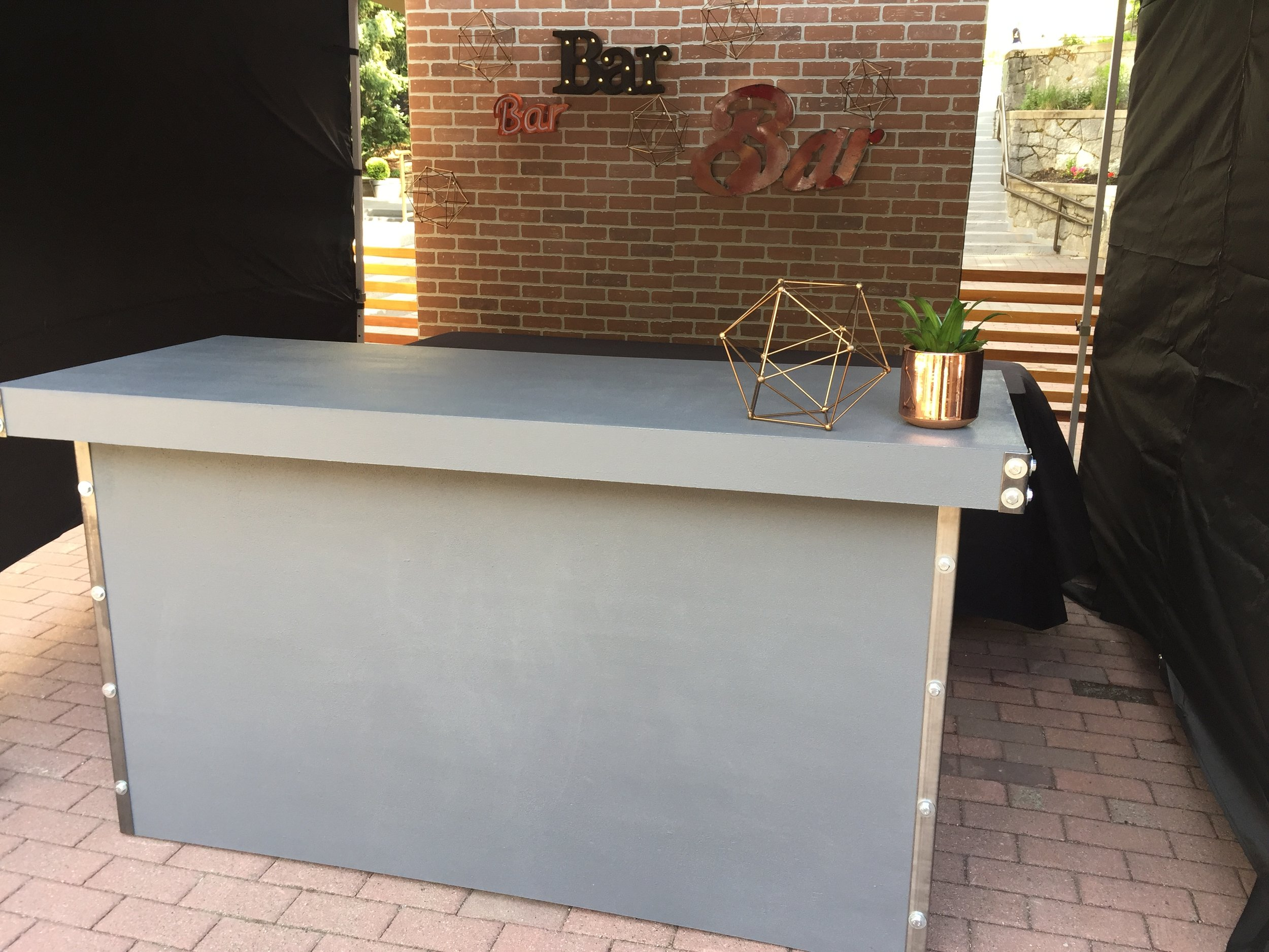 concrete bar   Quantity: 1  Price: $275.00
