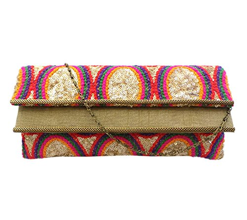 Bhamini Women's Embroidered Clutch With Double Flap Amazon.jpg