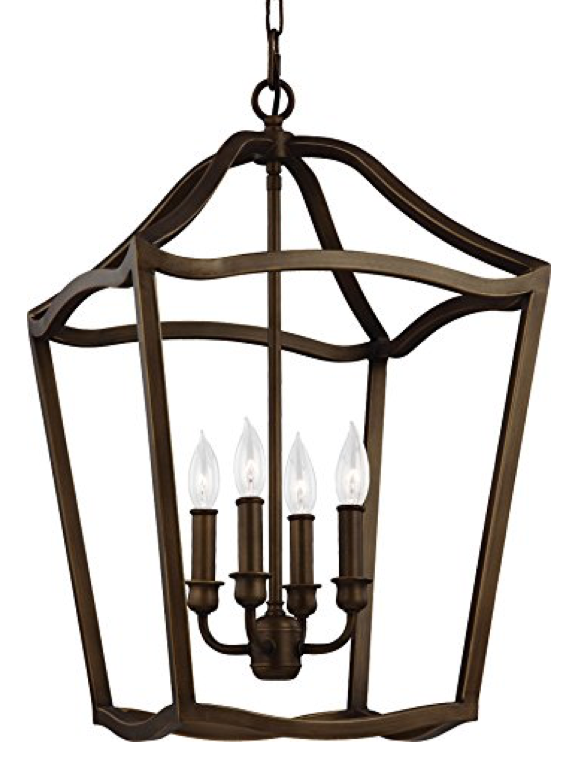Large Lantern Pendant with 4 Lights