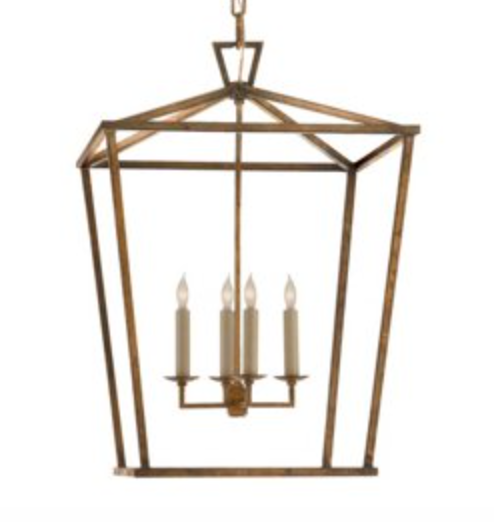 Gilded Medium Lantern Chandelier