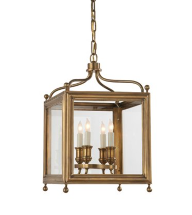 Small Greggory Lantern in Antique Brass