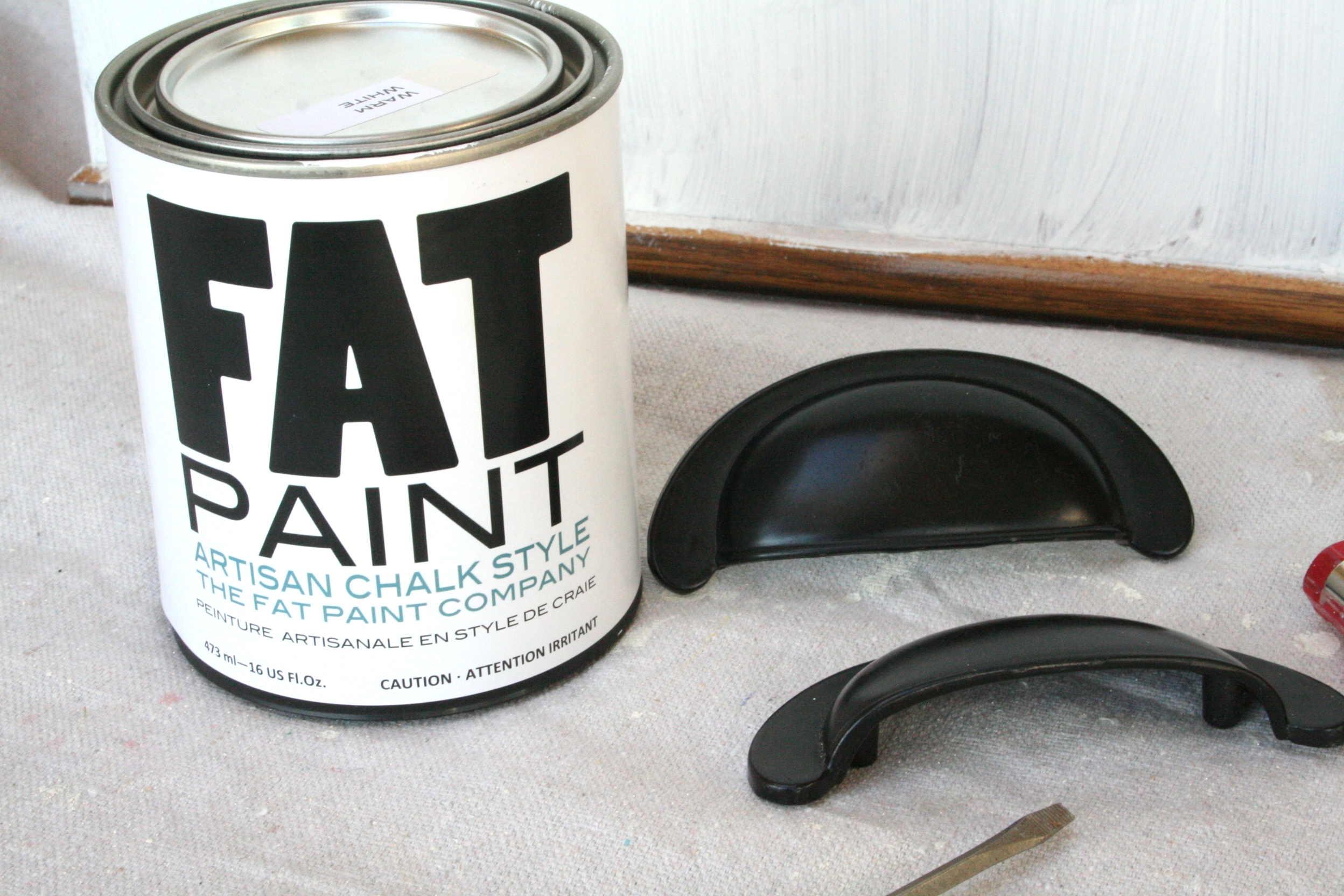 Fat Paint Co. Chalk Style Paint Nightstand Makeover