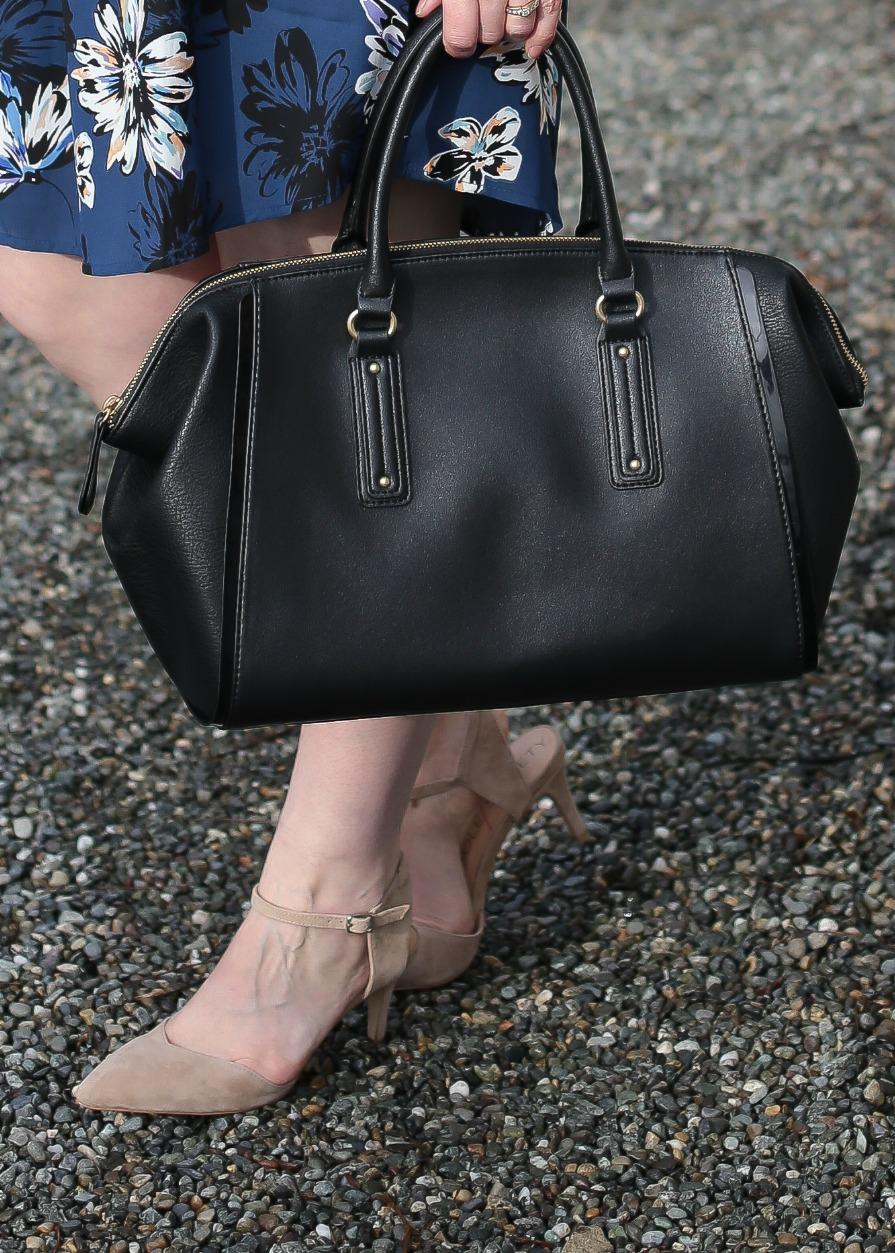 Spring Suede Heels and Black Handbag