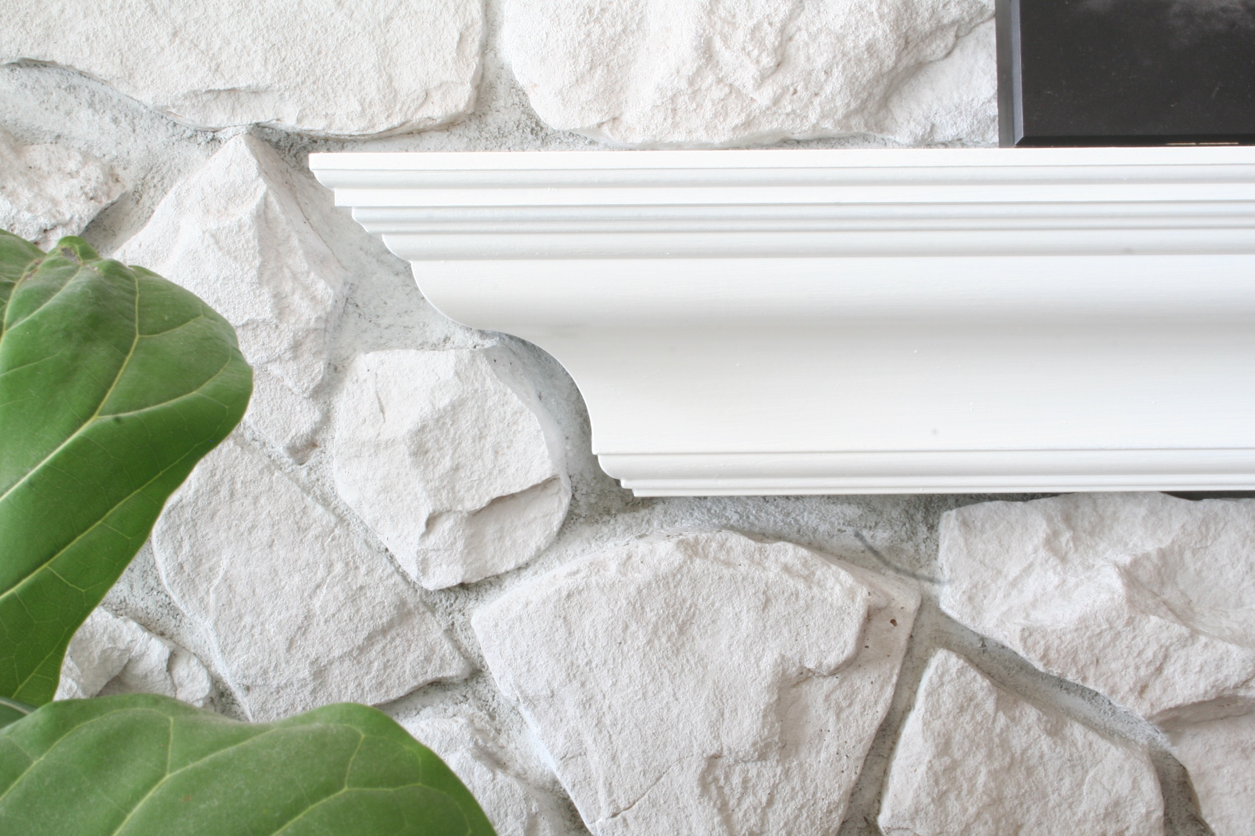 How to whitewash stone - DIY fireplace makeover