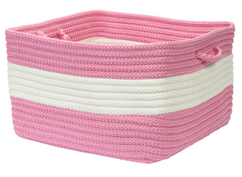 Pink and White Storage Basket
