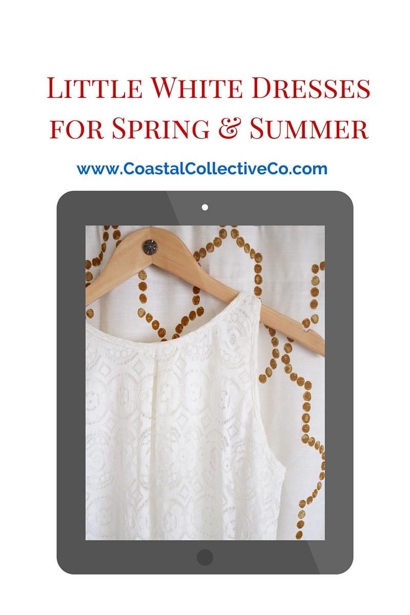 Little White Dresses for Spring and Summer