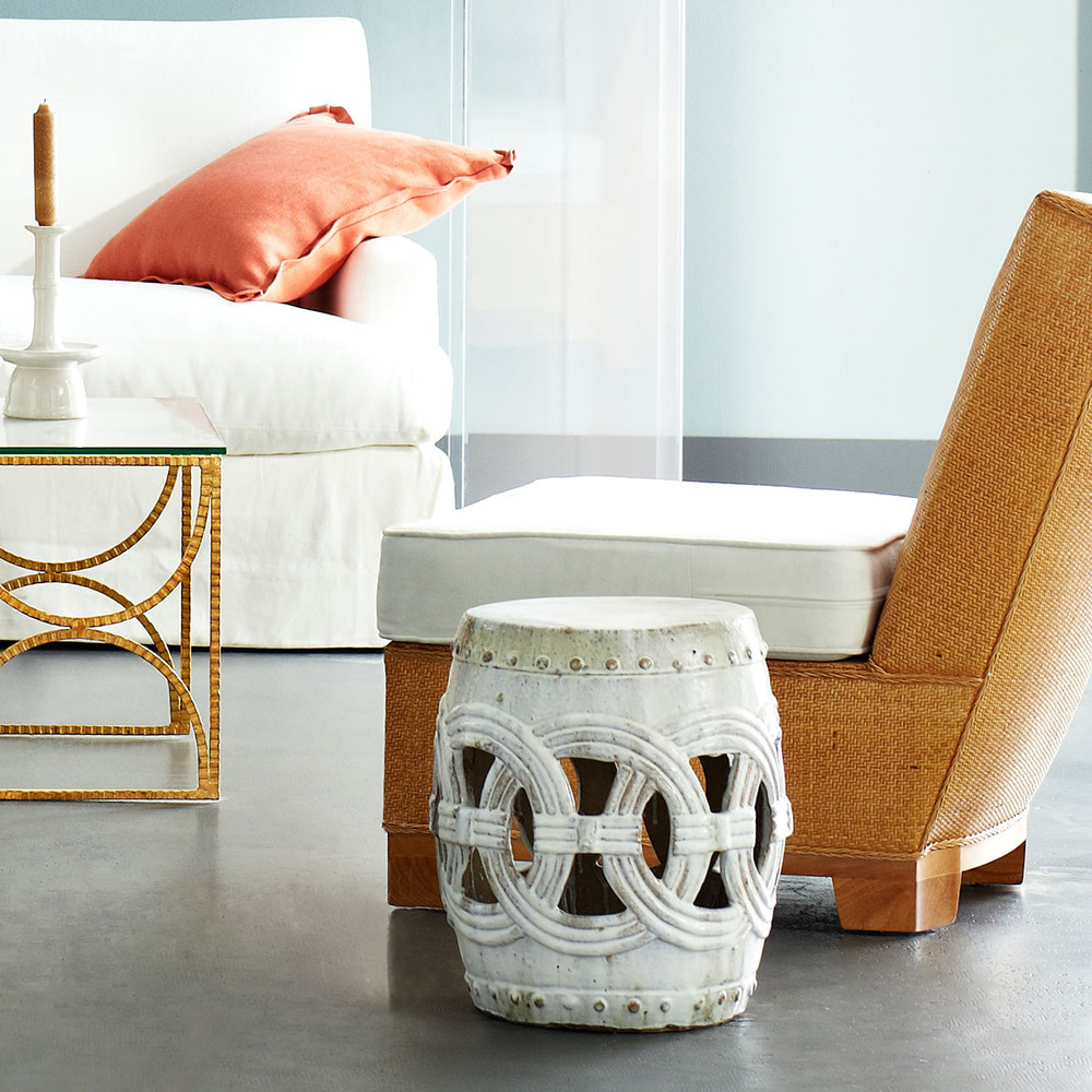 Double Rings Garden Stool for Summer Patio or Indoor Home Decor