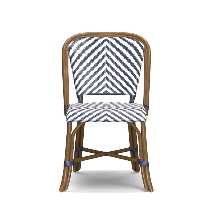 Parisian Woven Bistro Chair with Rattan Frame