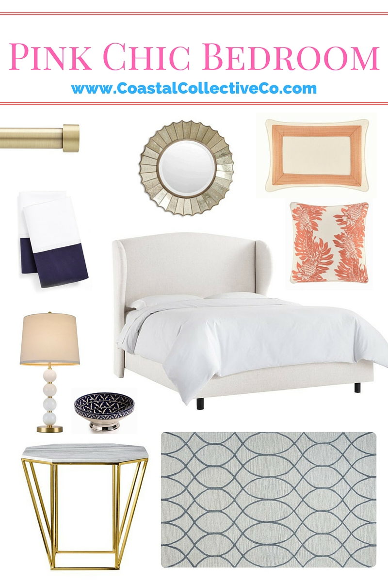 Pink and Navy Chic Bedroom Design and Inspiration