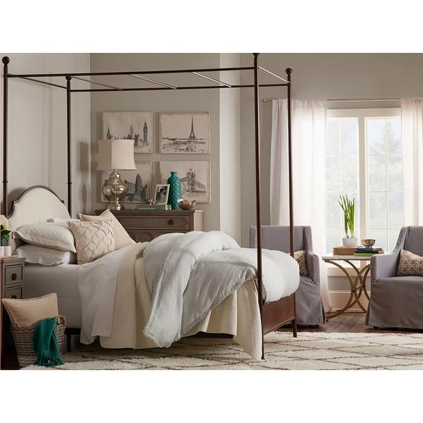 Skirted Slipcovered Armchair in Gray