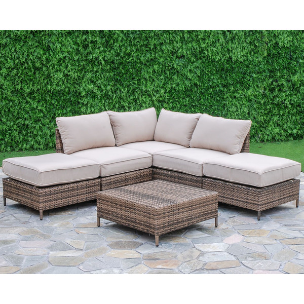 This outdoor sectional   was a close second for us personally to incorporate into our outdoor dining area.  It's always a nice feature when patio sectional pieces are modular and can be rearranged in different configurations. I also love the multi-tones of the wicker and neutral cushions.  Just add pillows for color and pattern!