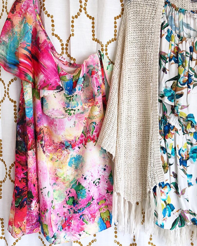 Colorful Summer One Shoulder Dress and Romper