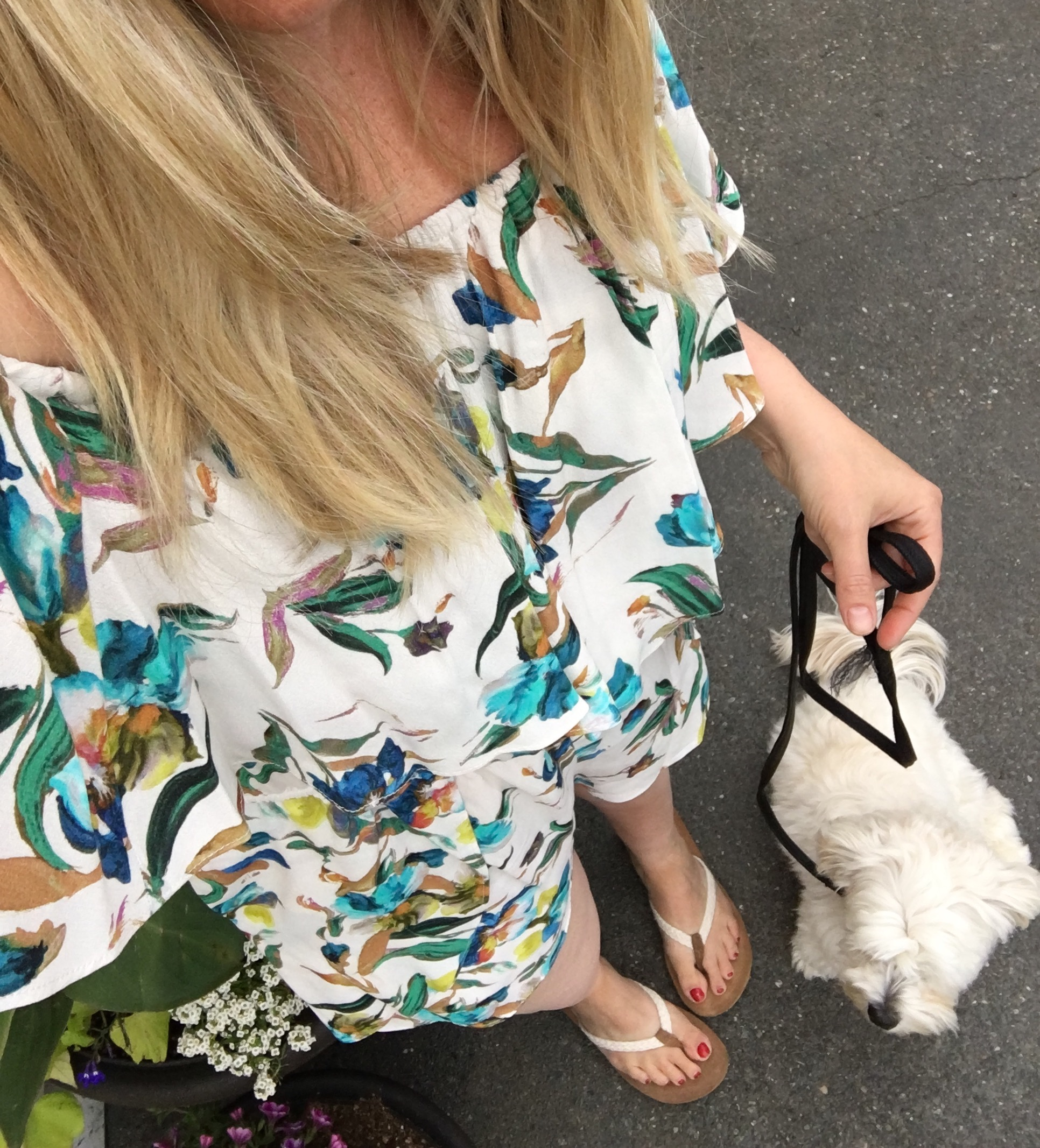 Willow and Clay Off the Shoulder Floral Romper