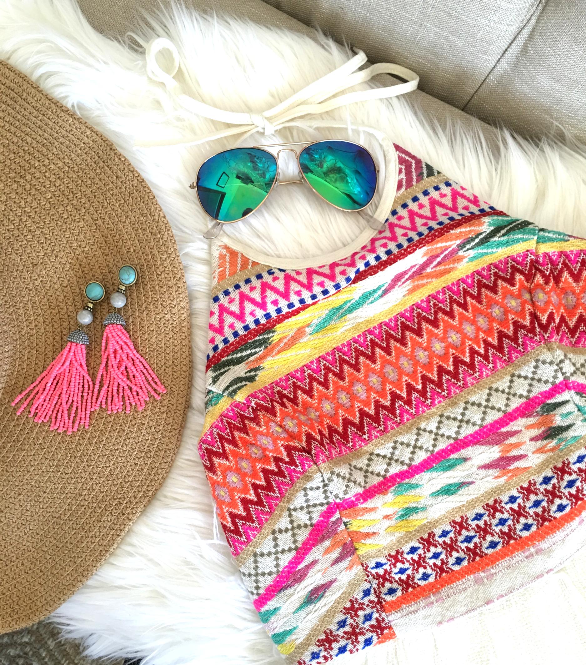 Ikat Summer Midi Halter Dress
