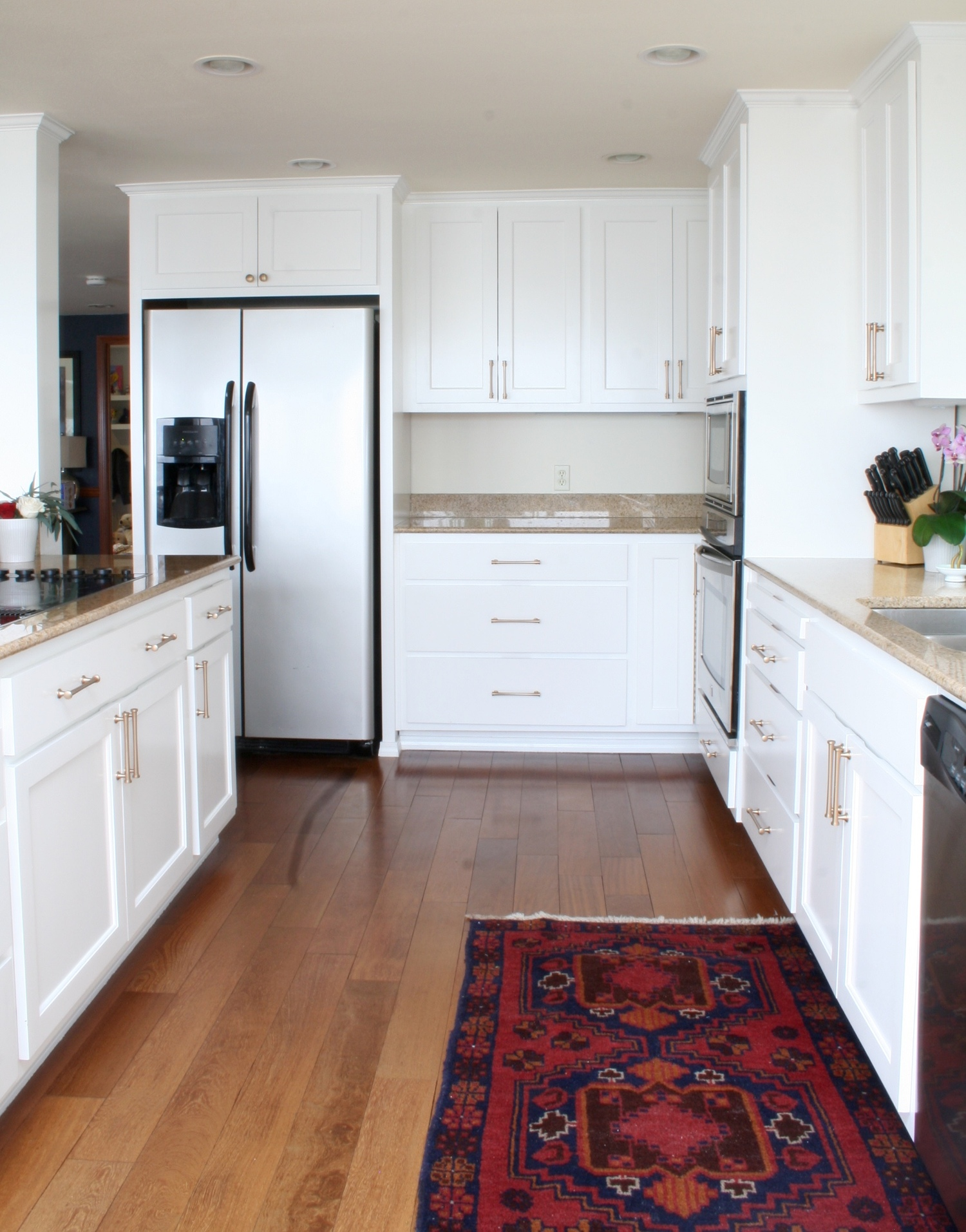 White Kitchen with Balouch Rug