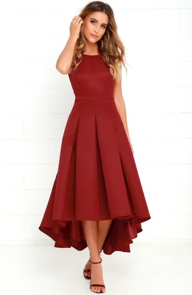 Tea Length Hi Low Dress