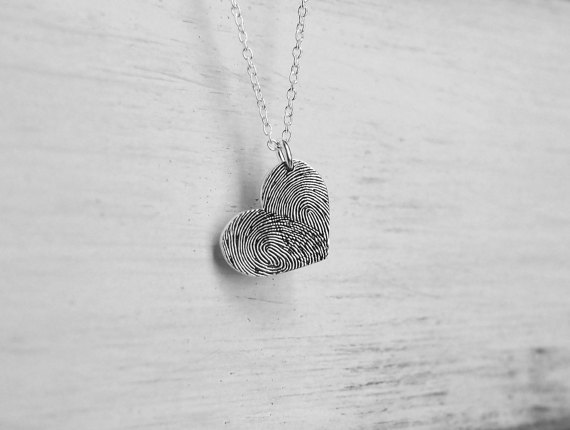 Custom Fingerprint Necklace - Holiday Gift Guide