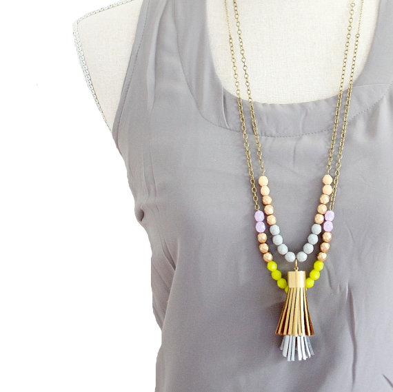 Handmade Tassel Necklace - Holiday Gift Guide