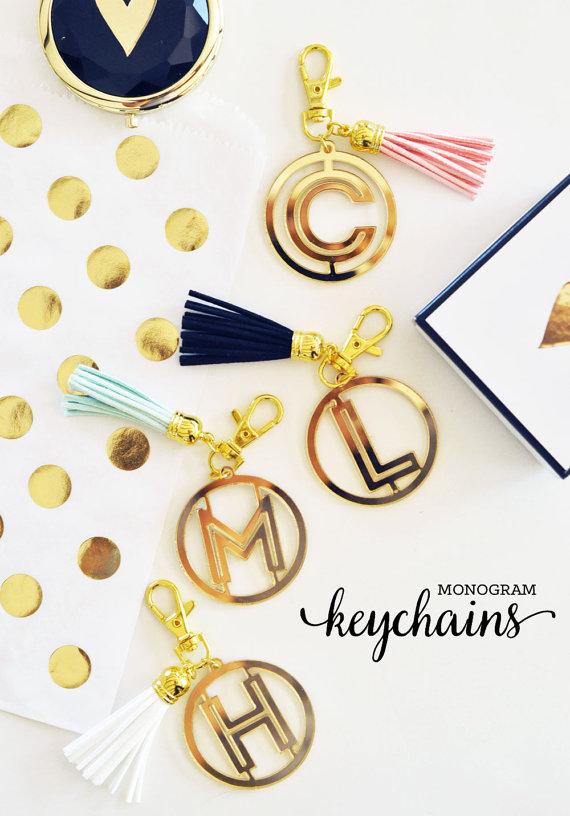Monogram Keychains
