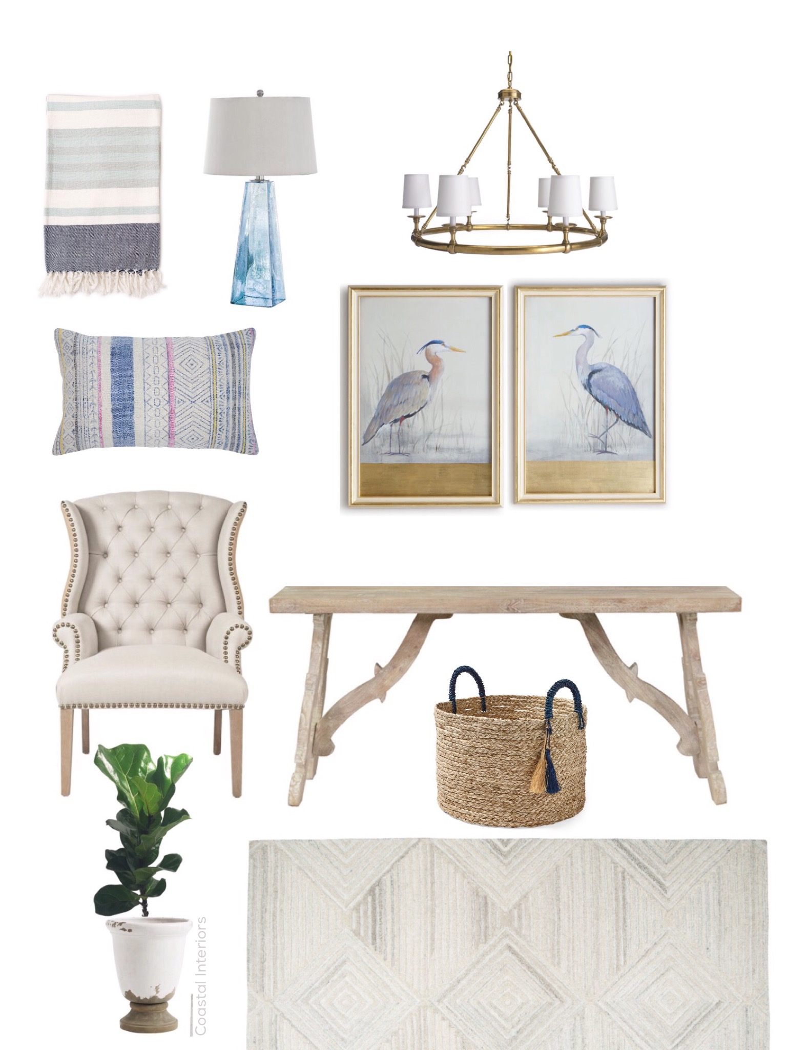 Coastal Chic Home Office