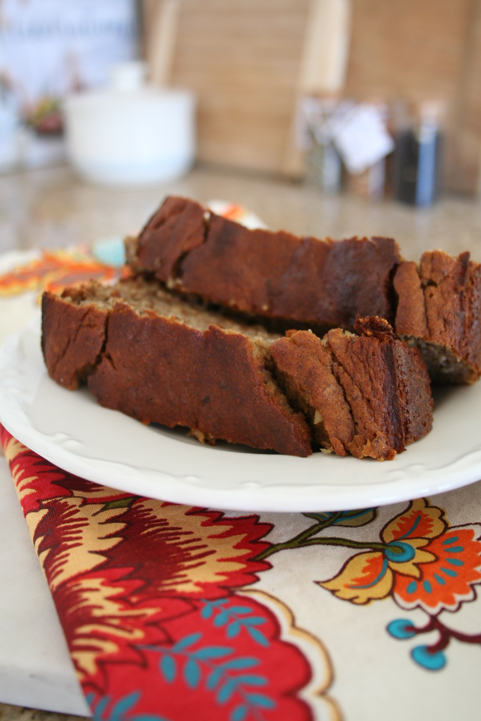 Gluten and Dairy Free Banana Walnut Bread