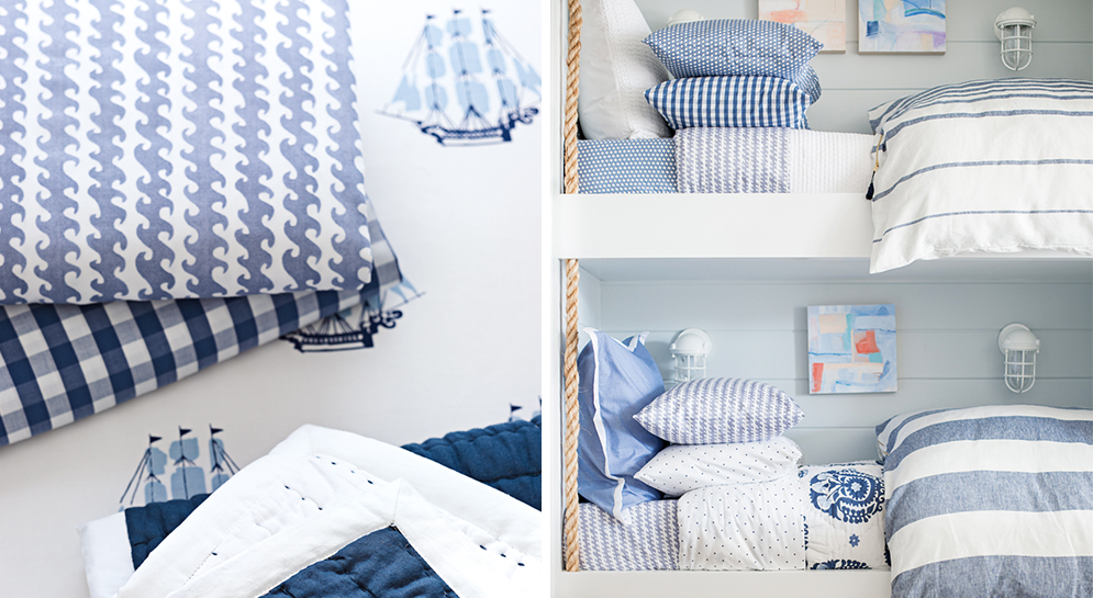 Boys Coastal Bedroom with Bunks
