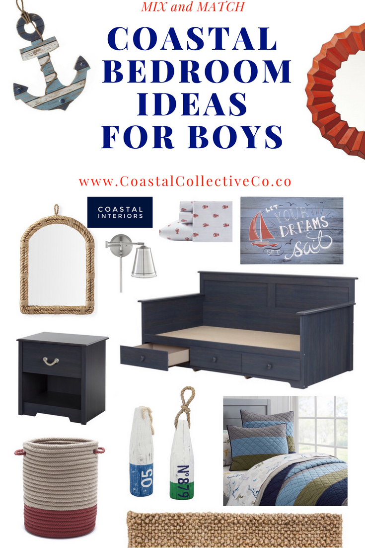 Mix and Match Coastal Boys Bedroom Ideas