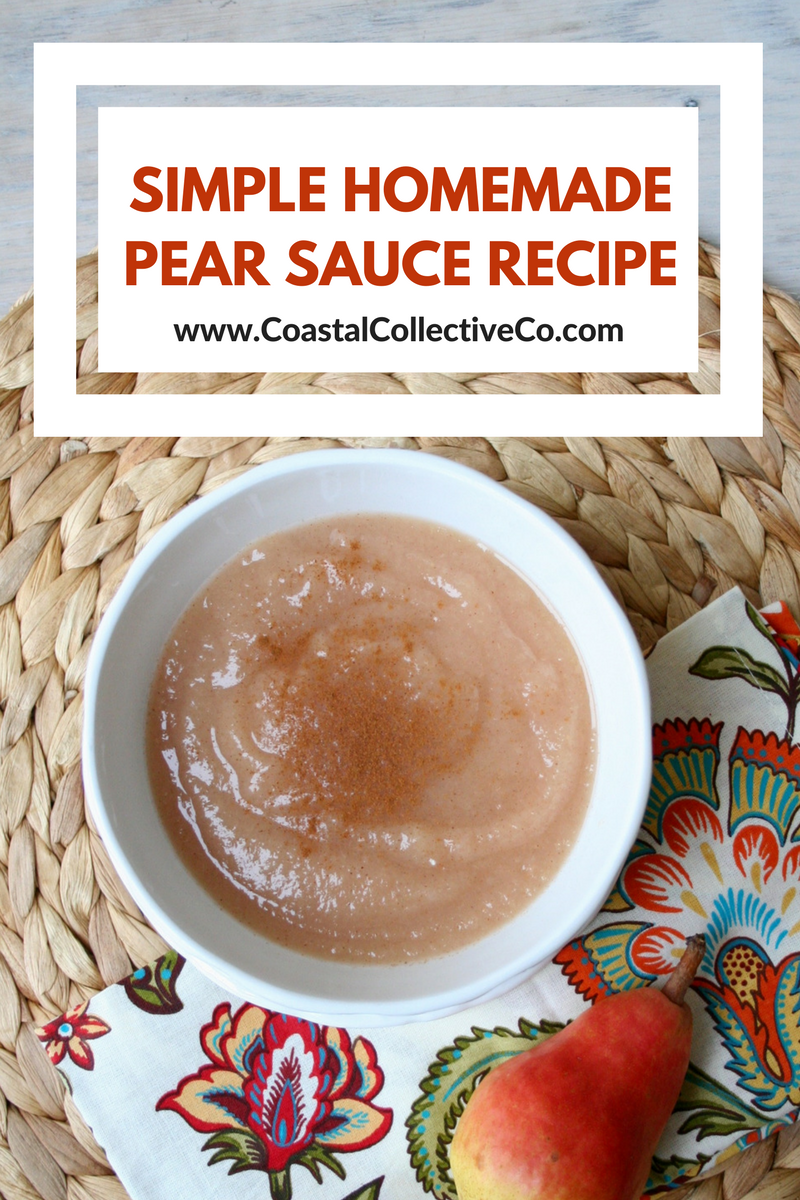Simple Homemade Pear Sauce Recipe