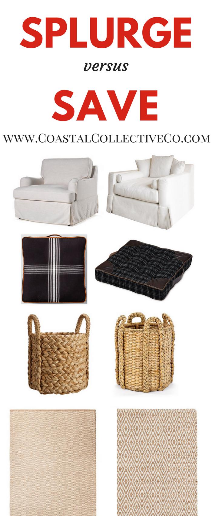 Splurge versus Save - Fall Chair Nook
