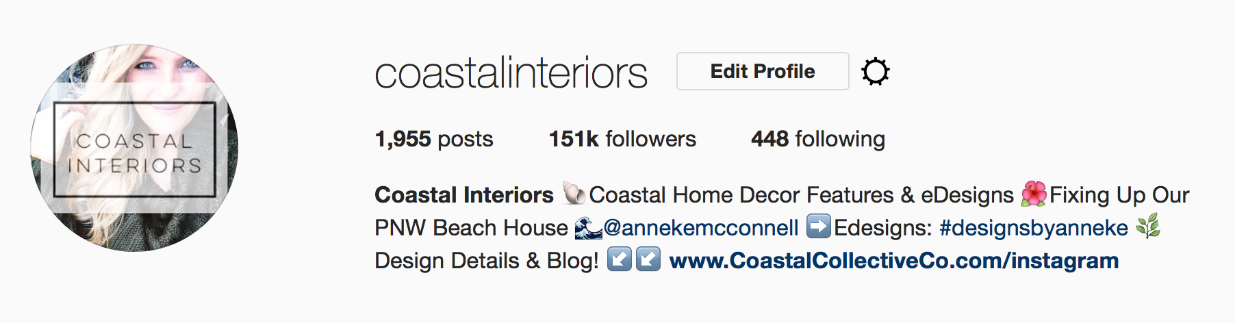 Coastal Interiors Instagram