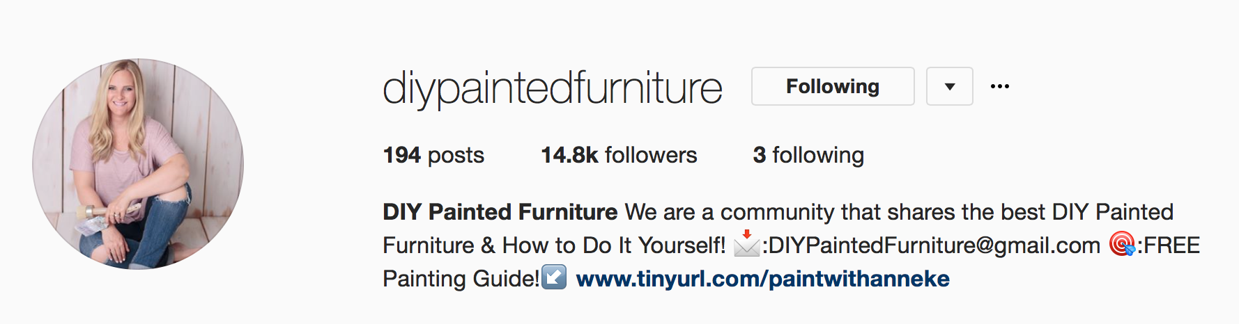 DIY Painted Furniture on Instagram
