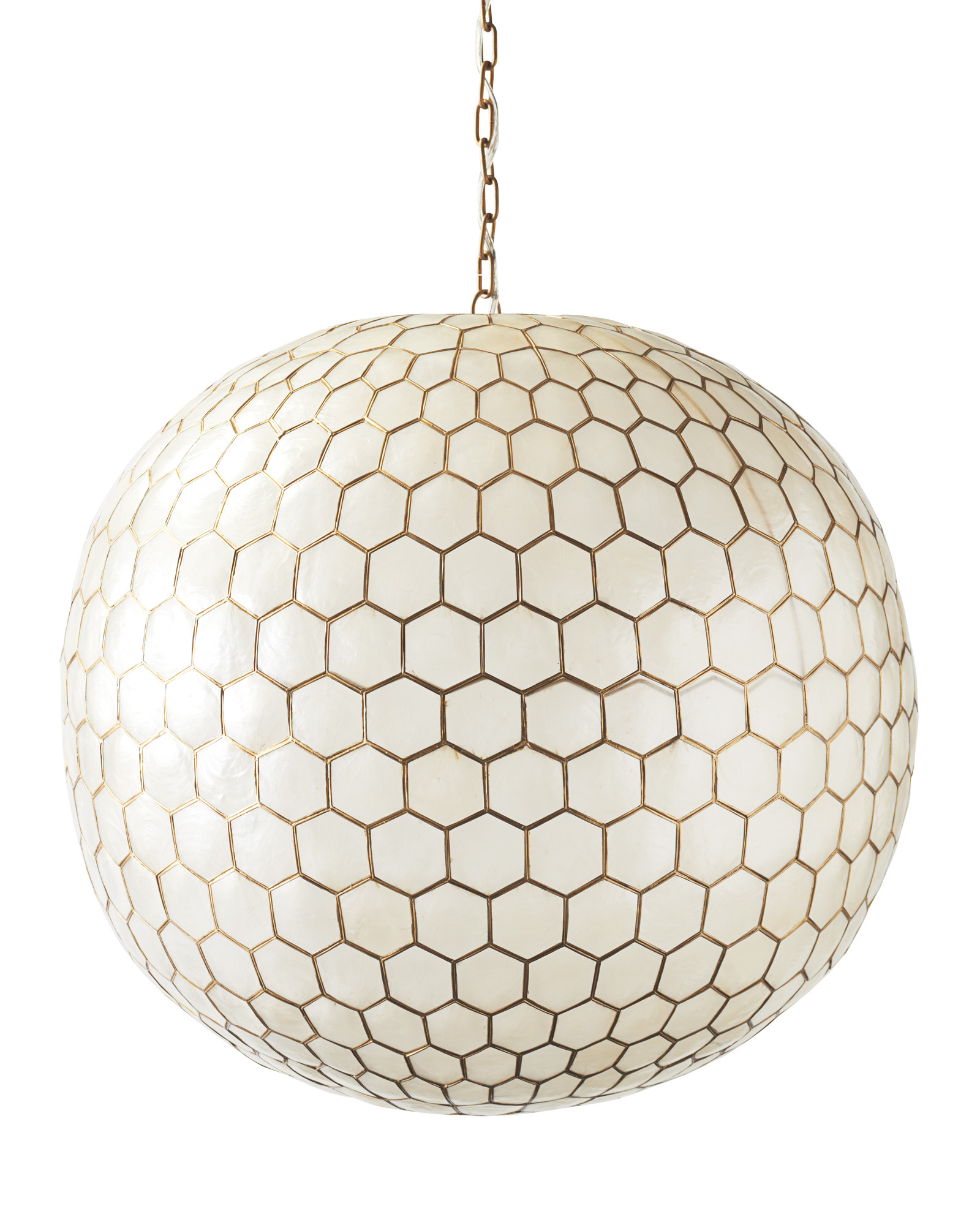 Capiz Honeycomb Pendant Lighting
