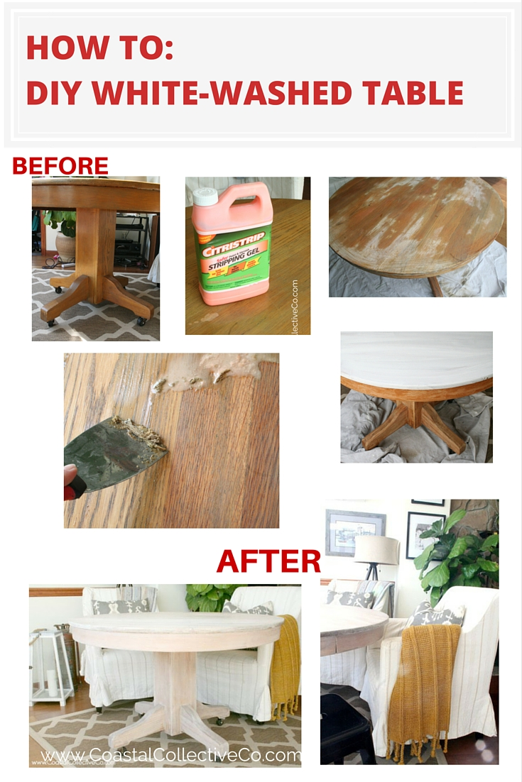 How To Whitewash a Wood Table