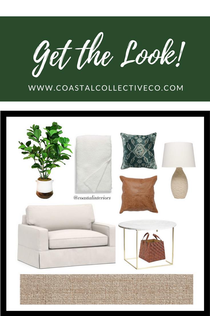 Coastal Interiors Sleeper Chair Sitting Area