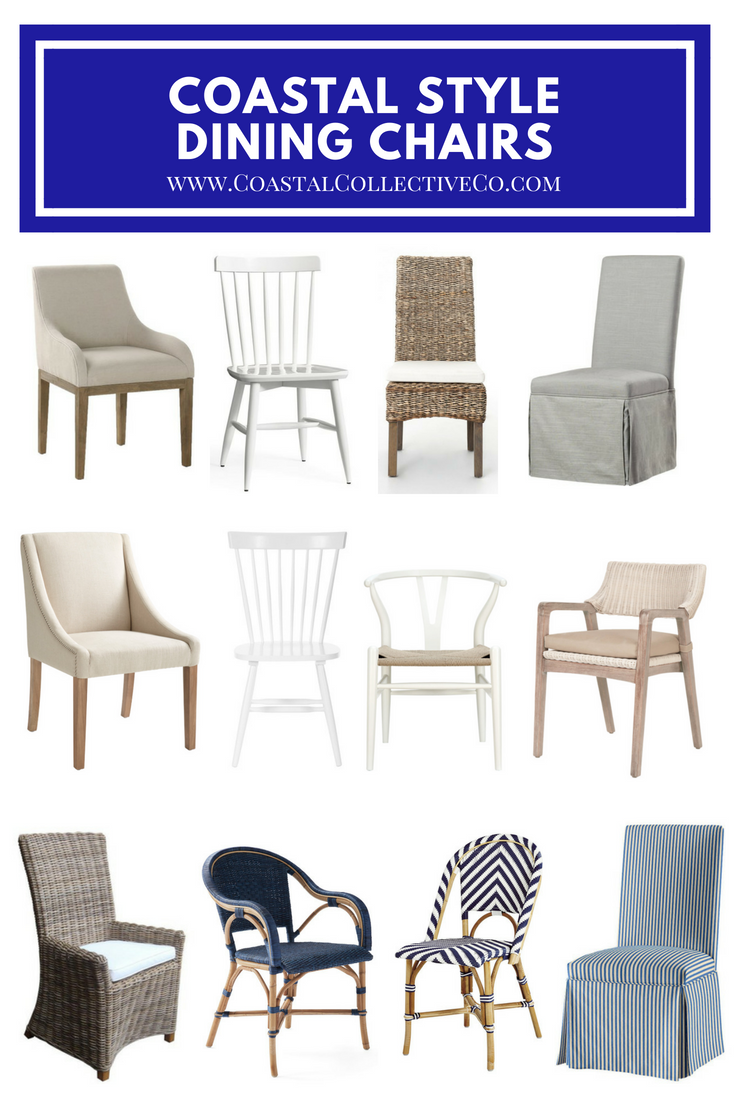 Coastal Dining Chairs, Beachy Dining Room Chairs