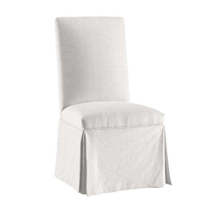 White Slipcovered Parsons Chair