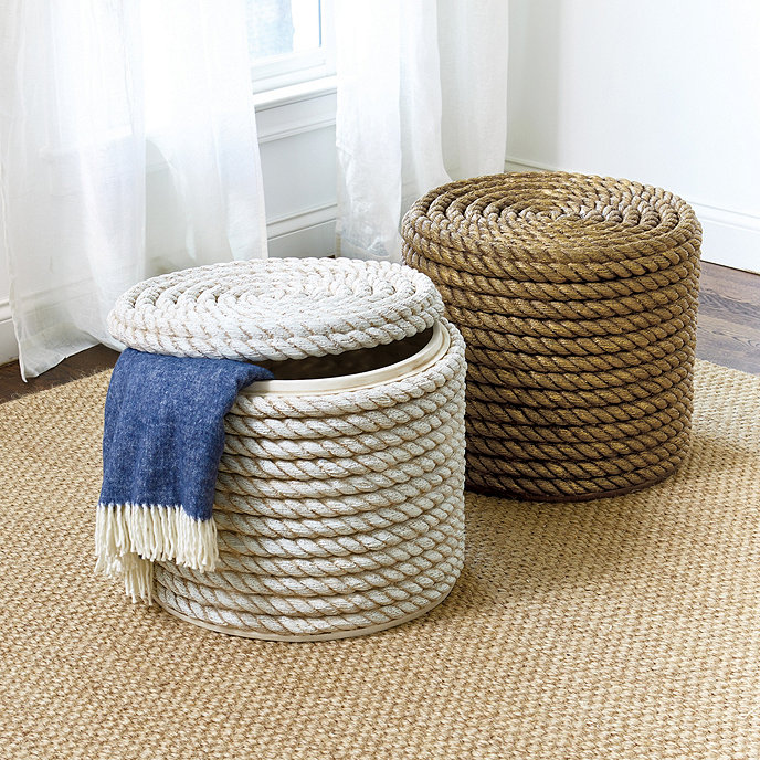 Rope Storage Ottoman and Stool