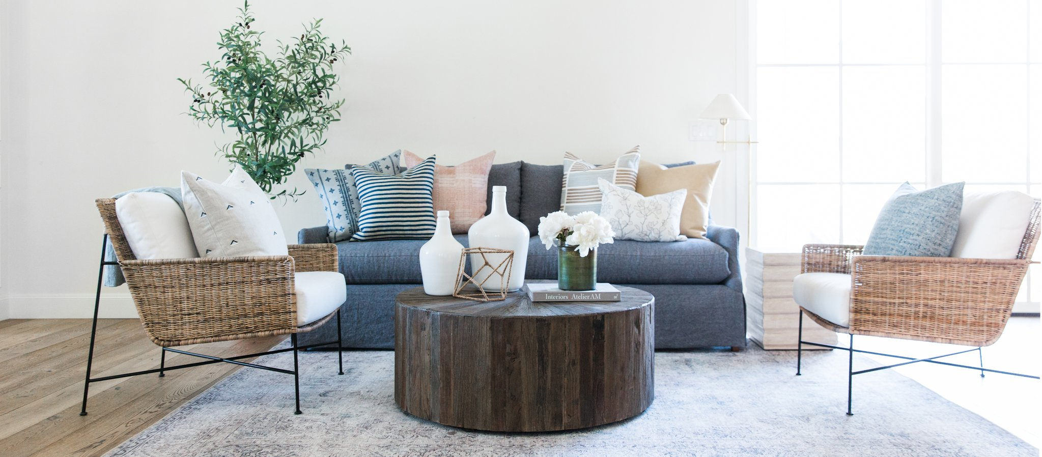 Relaxed Luxury Living Room Decor