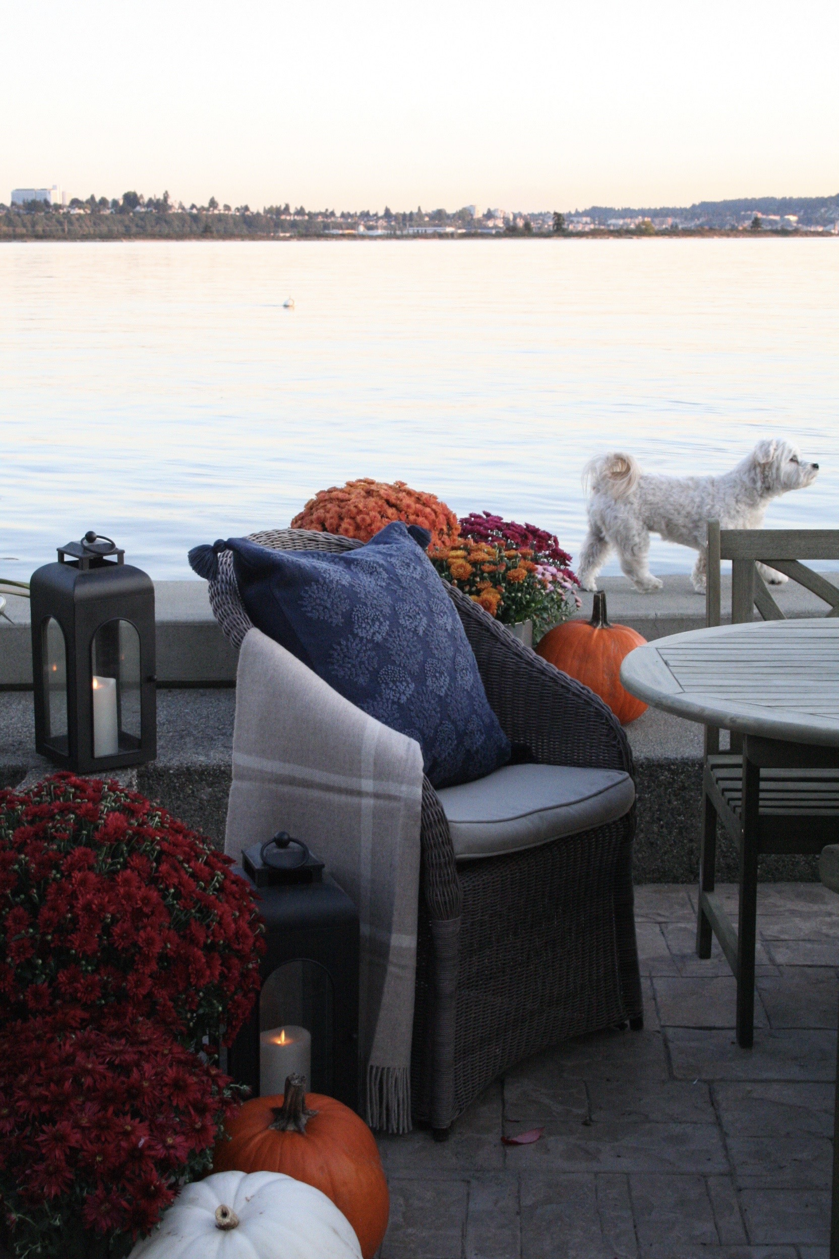 Beach House Patio Fall Decor