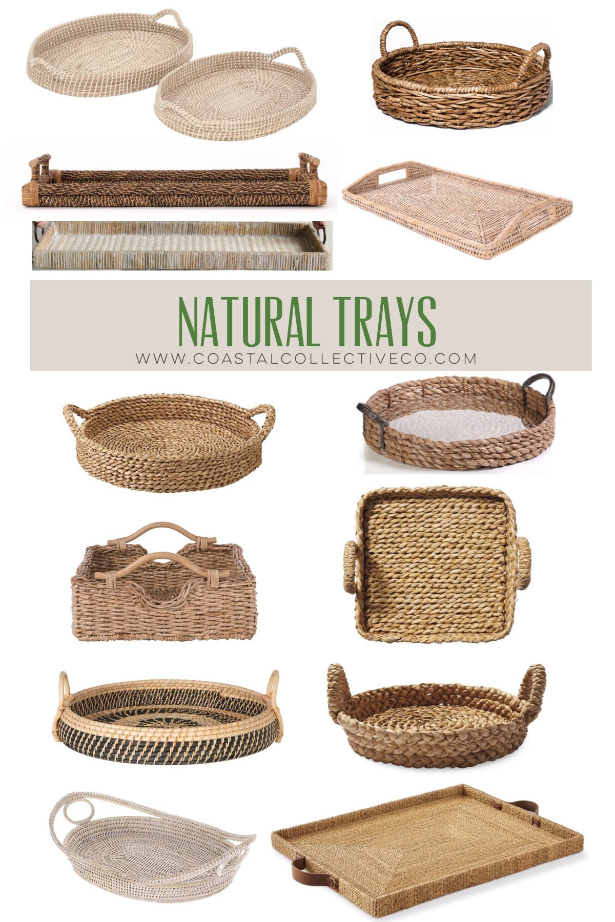 Seagrass and Wicker Natural Trays