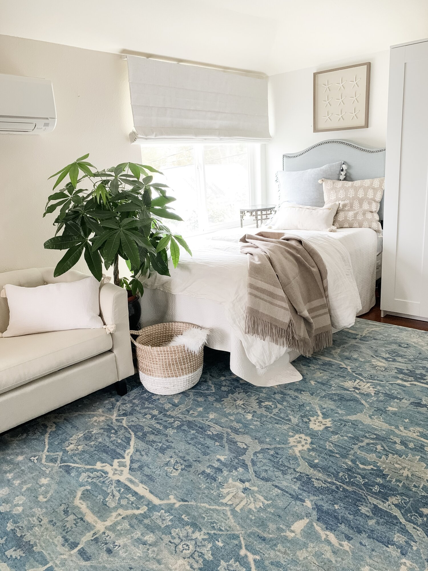 Blue And Cream Beach House Rug Coastal Collective Co