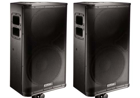 2 QSC Hpr 122iPowered Speakers