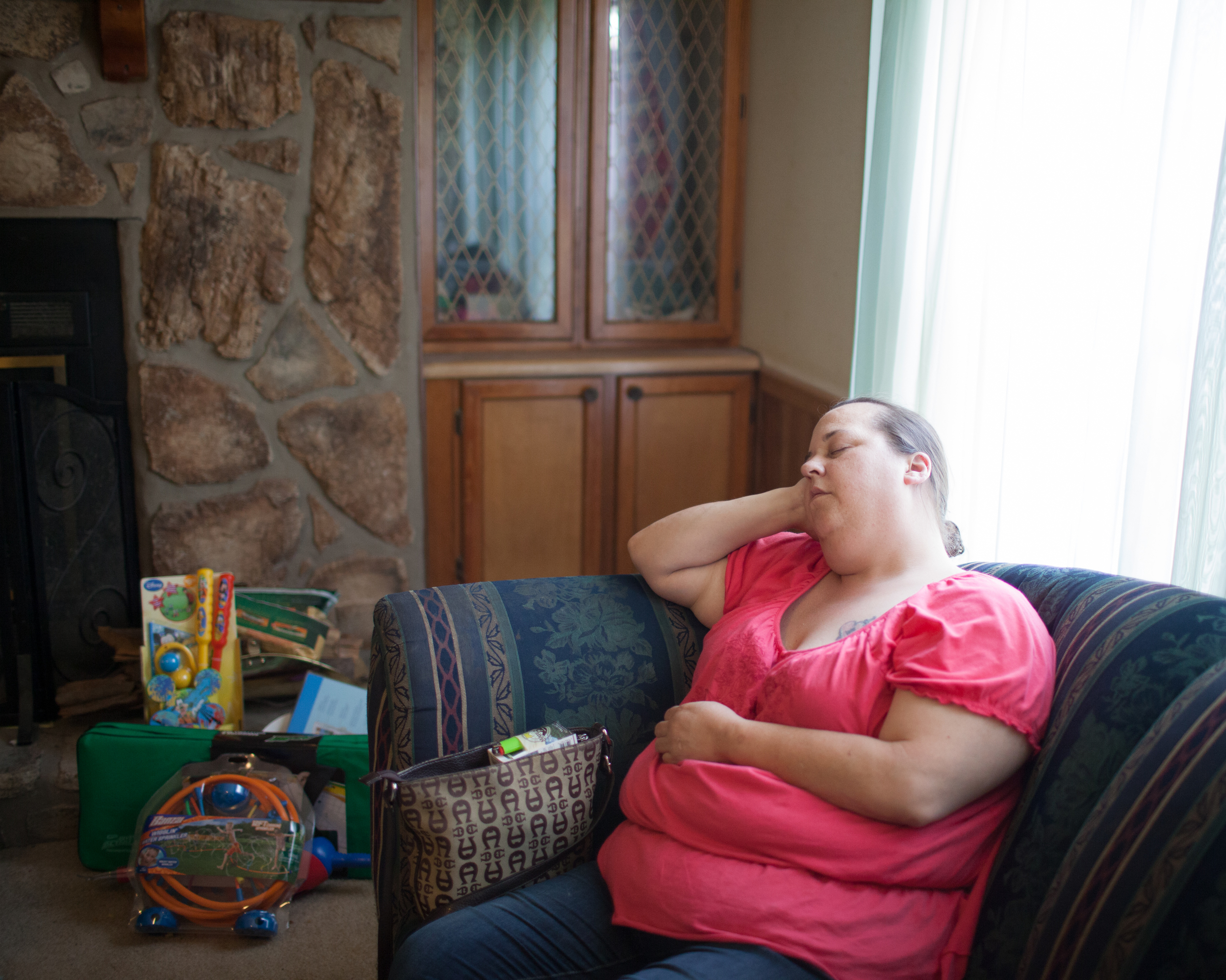 Mom Asleep on the Fourth of July  2015