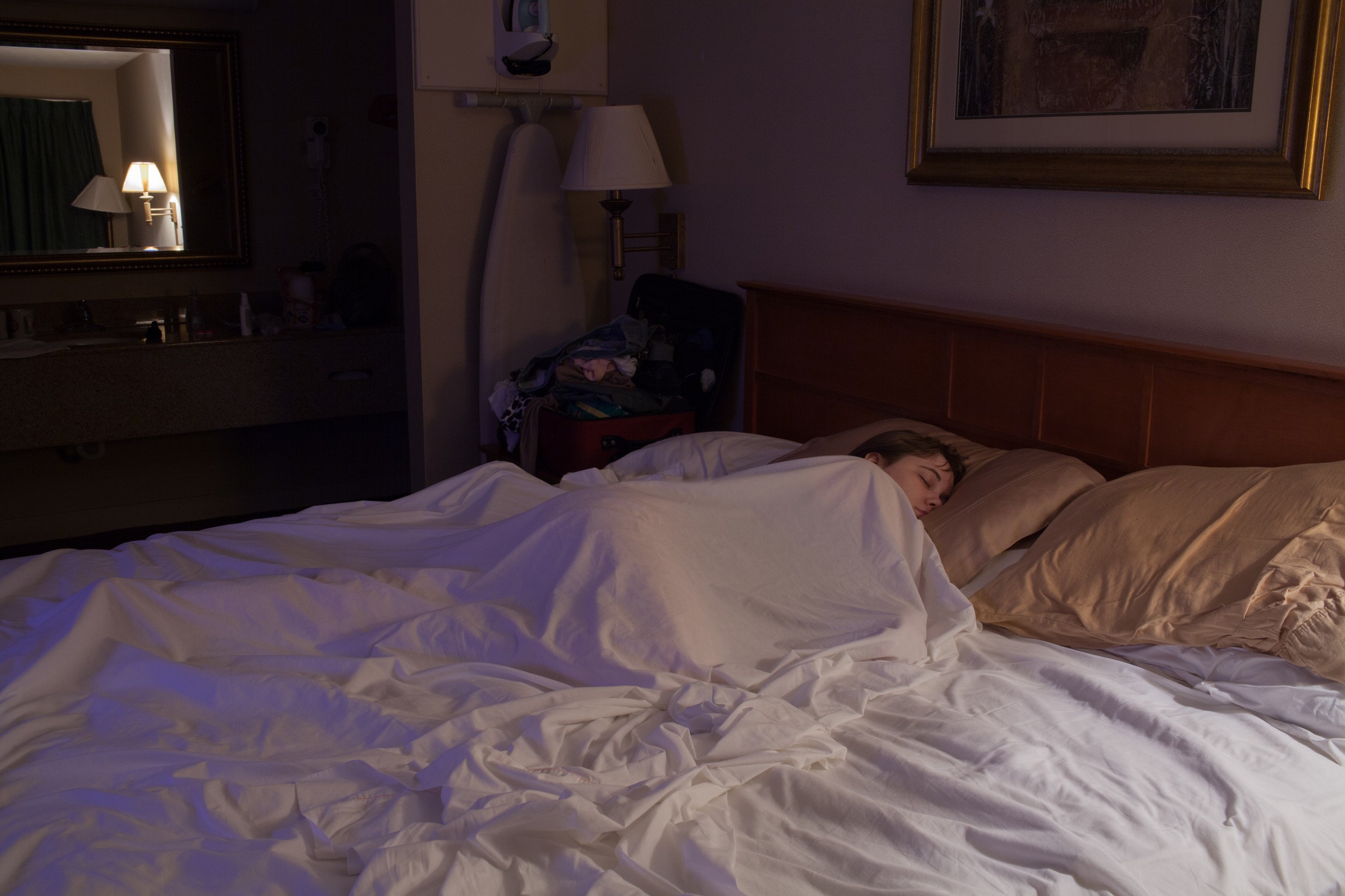 Hannah Asleep in Room 105  2015