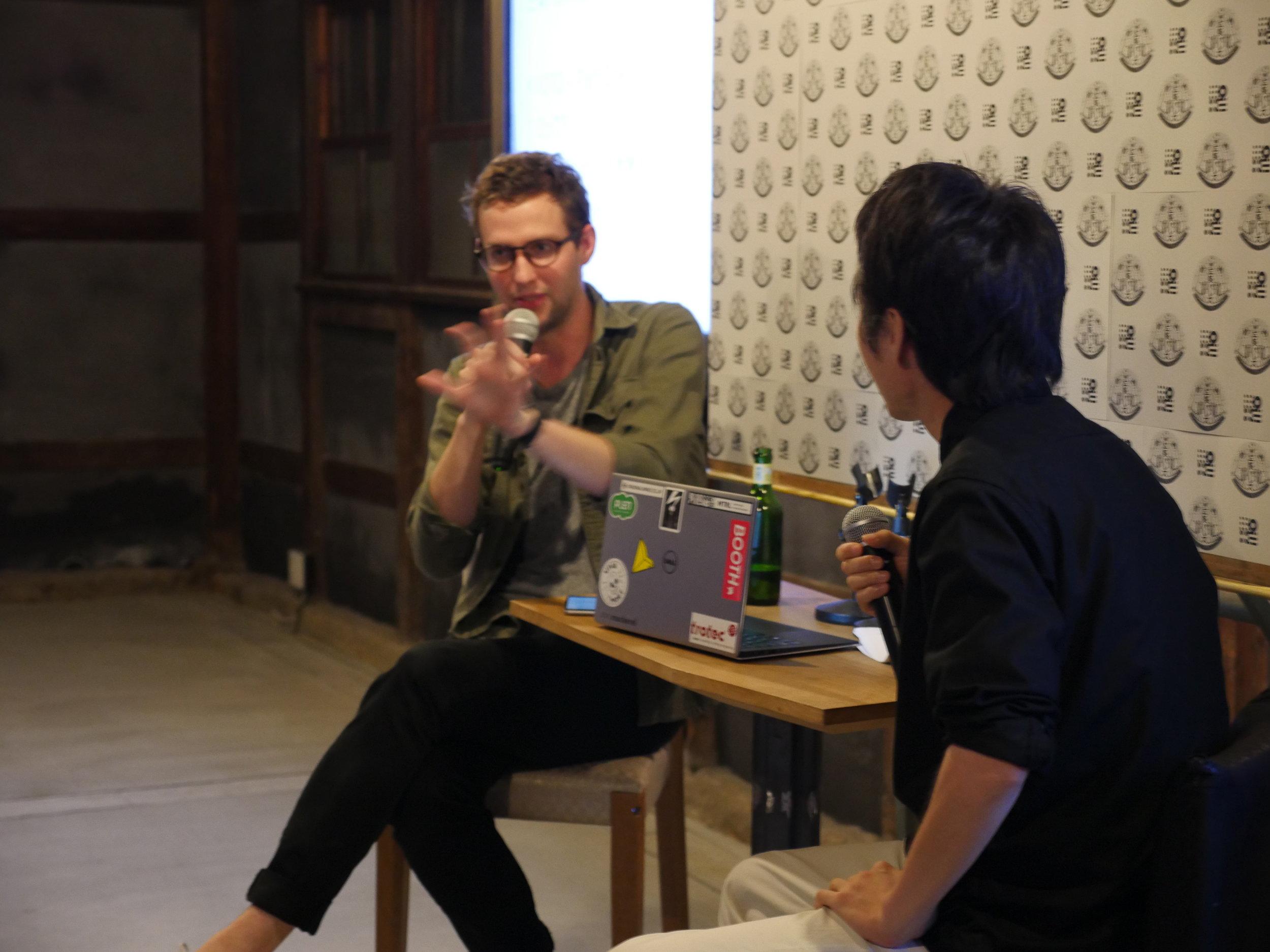 Talking with DP Tsuyoshi Ishihara.