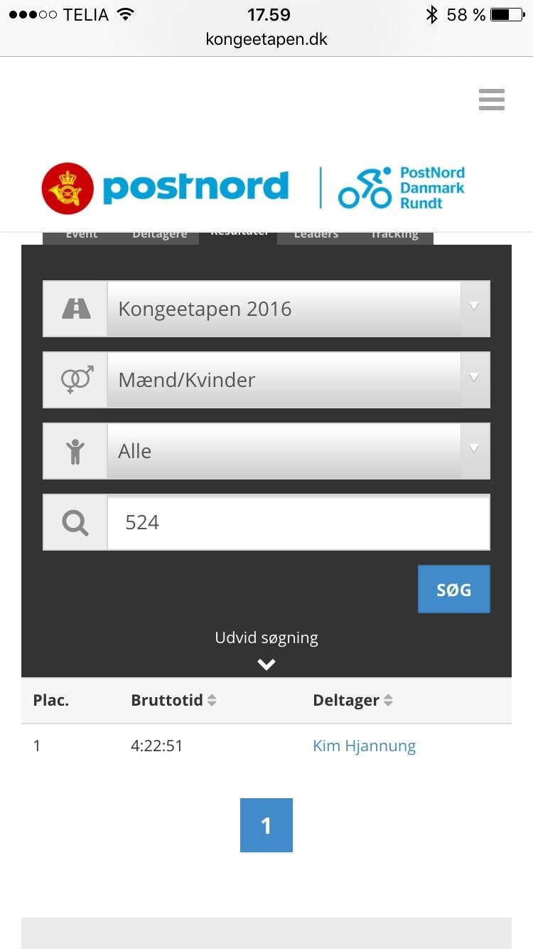 Kongeetapens hjemmeside