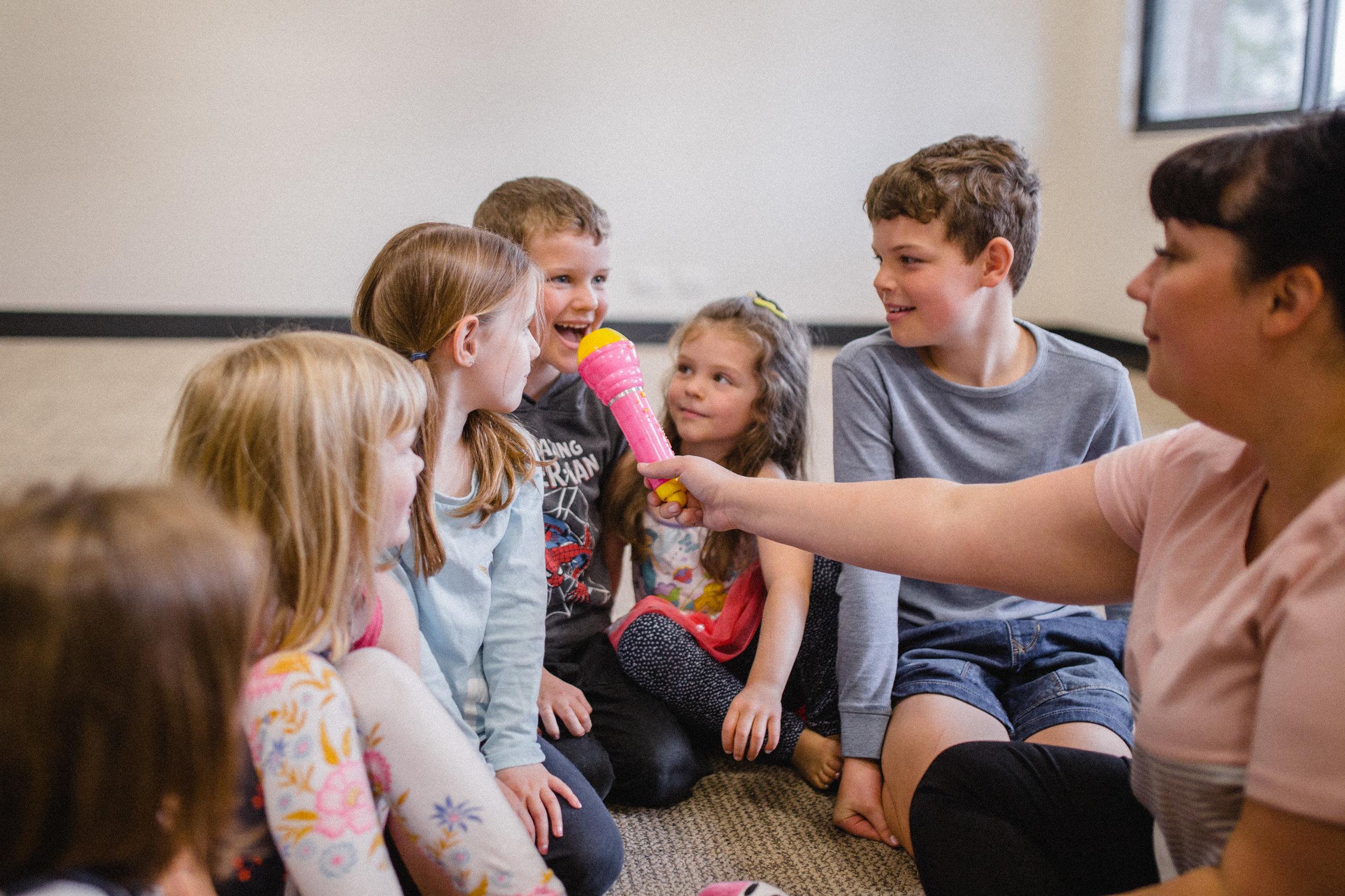 kids singing lesson