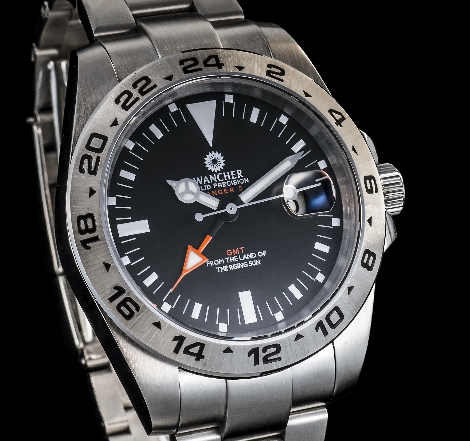 GMT - A watch with GMT function is a timepiece with two hands to display the time in a 12-hour format and an independently adjustable 24-hour hand. With this function, two time zones can be showed clearly at once. White GMT watches were originally designed for pilots, these days they are broadly used by people who may be interested in tracking time in two different locations or for travellers who would like to know what time it is back home.